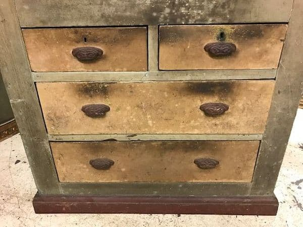 SOLD - Deep  French Industrial Cupboard over Drawers   - c45